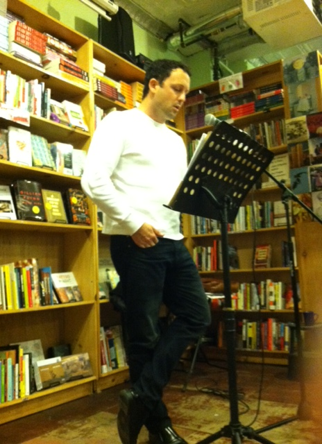 Damon Ferrell Marbut reads at Bluestockings Bookstore and Activist Center on the Lower East Side of New York City, January 28th, 2013.